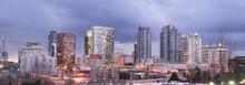 Bright Lights City Skyline Dow...