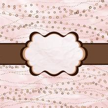 Valentine`s Day Vintage Pink Card. EPS 8
