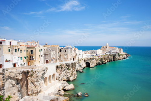 View of Vieste, Italy. Canvas Print