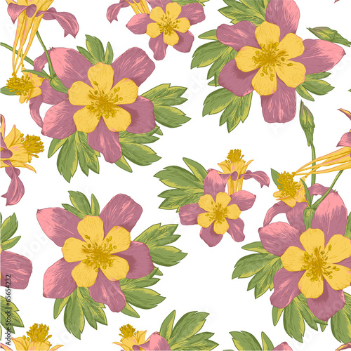 Elegance Seamless flowers background