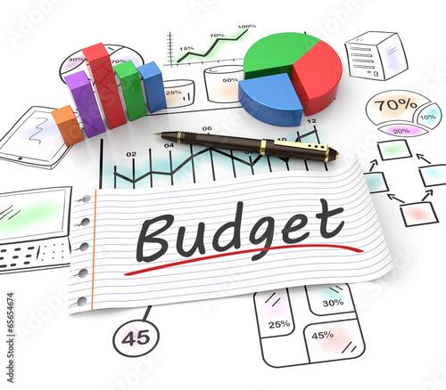 Fotomural Budget concept