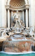 Panel Szklany Podświetlane Architektura Fontana di Trevi in Rome, Italy, Europe