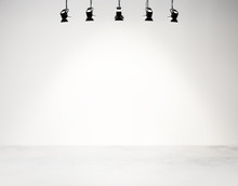 Studio Background With Spotlights