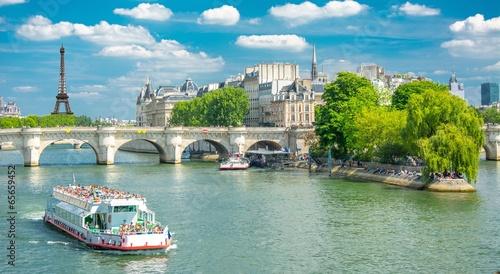 Poster Paris Berges de la Seine à Paris