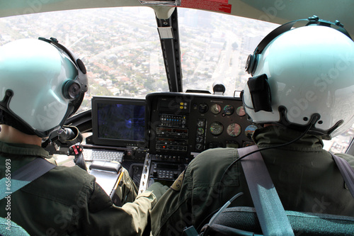 helicopter pilots flying