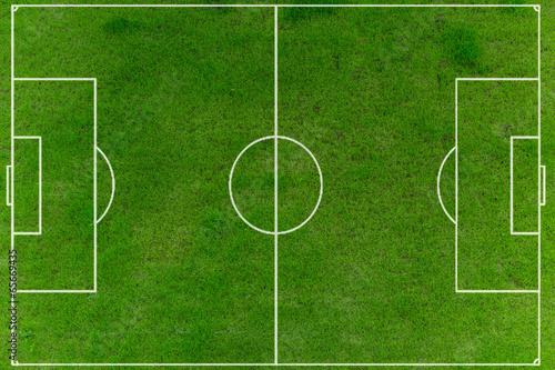 Obraz Fußballfeld auf Rasen - fototapety do salonu