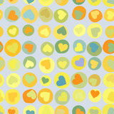 Orange hearts background on beidge.  EPS 8