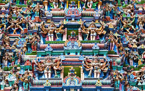 Stickers pour porte Delhi Meenakshi Temple