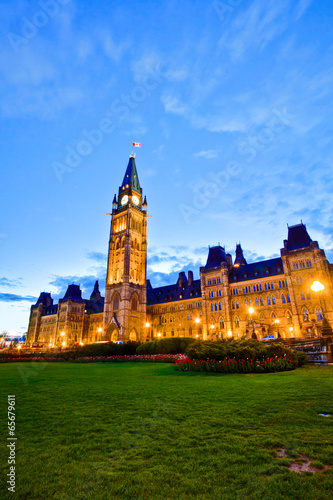 Spoed Foto op Canvas Canada View of Canada Parliament Building at Ottawa