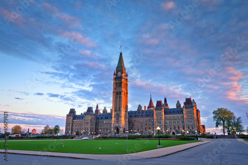 Foto auf Gartenposter Kanada View of Canada Parliament Building at Ottawa