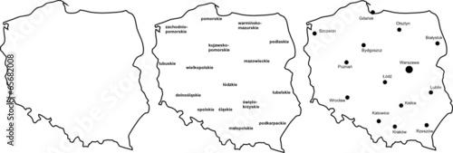 Fotografie, Obraz  Polska mapa