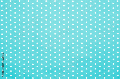 retro blue polka dot pattern - 65686650