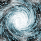 spiral galaxy in space