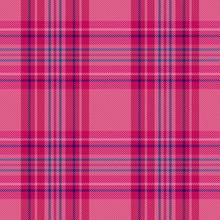 Pink Plaid Tartan Seamless Pattern Background