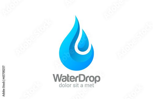 Fotografering  Waterdrop vector logo design. Clear Water dropplet