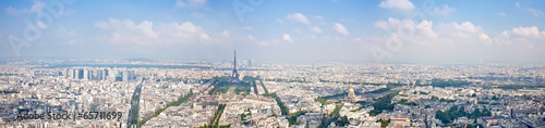 Poster de jardin Paris Panorama of city Paris