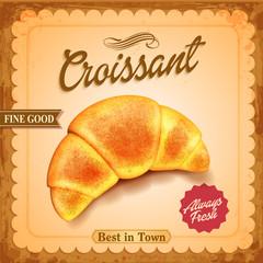 Fototapeta Do piekarni croissant