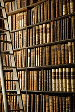 Antique Books In Trinity College's Old Library, Dublin
