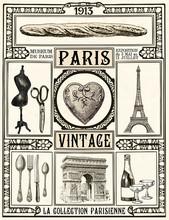 Poster Paris Vintage