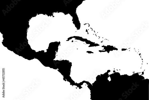 Fotografie, Obraz  High detailed vector map - Central America.