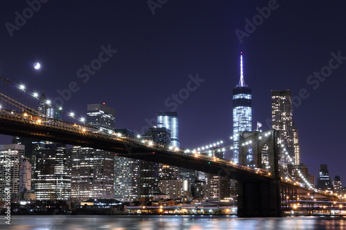 Fototapety, obrazy: Brooklyn Bridge and Manhattan Skyline , New York City