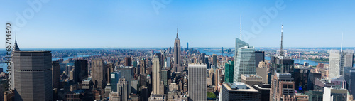 Fotografía  Panoramic aerial view of Manhattan  in New York - USA