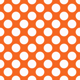 Orange polka dot seamless pattern