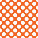 Orange polka dot seamless pattern