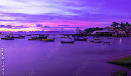 Cadres-photo bureau Prune Sunset in Buzios. Rio de Janeiro, Brazil