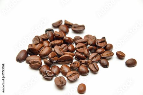Deurstickers koffiebar scattered coffee beans