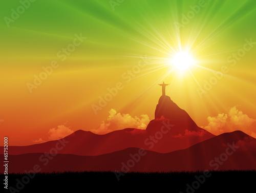 Brazil sunrise Tablou Canvas