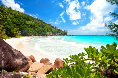 Fotografie, Obraz  Anse Georgette - Seychellen, tropischer Strand