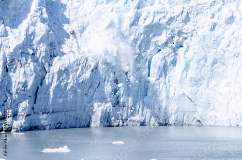Fotobehang Gletsjers Calving of Marguerite Glacier in Alaska