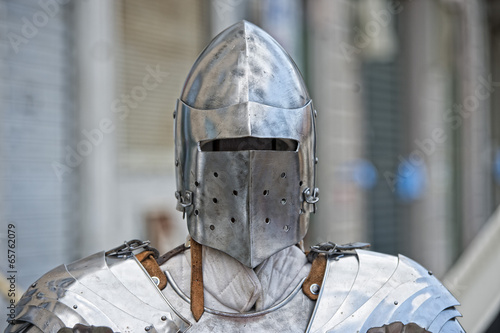 Photo  Ancient medieval armor