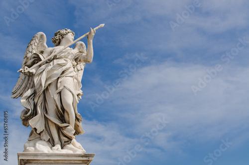 Fotografía  Estatua del ángel, castillo de Sant'Angelo, Roma, Italia