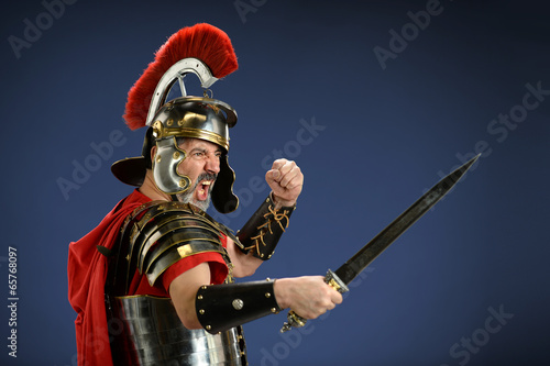 Fotografie, Obraz Roman Centurion Using Sword