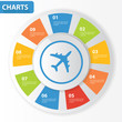 Airplane chart for text,vector