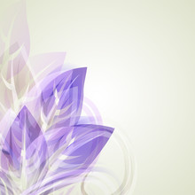 Abstract Artistic Background With With Purple Flowersl Element