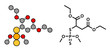 Malathion insecticide, chemical structure.