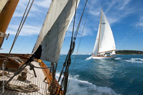 Poster Voile Segelregatta klassischer Yachten