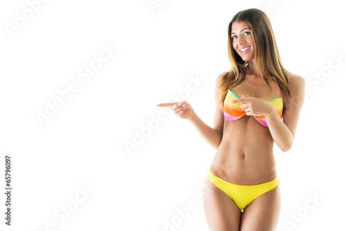 Fotografie, Obraz  Attractive girl in a bikini