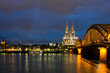 Night View of Cologne Cathedral & Skyline
