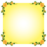 An empty template with a flowering plant border design