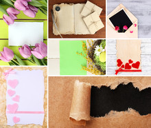 Collage Of Different Kind Of Paper