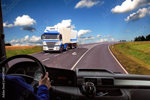 Fotografie, Obraz  Truck kokpit