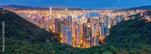 Foto op Aluminium Hong-Kong Hongkong Panorama