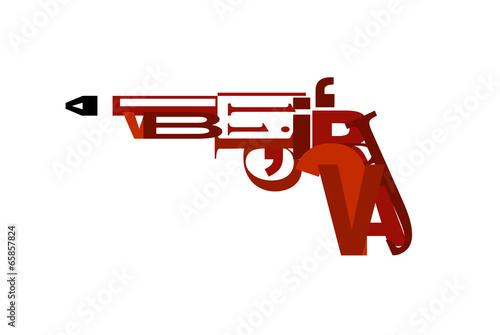 Obraz na plátne pistool van letters