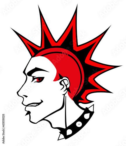Fotografie, Obraz  punk red boy