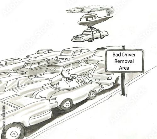 Fotografia, Obraz Bad Driver Removal Area