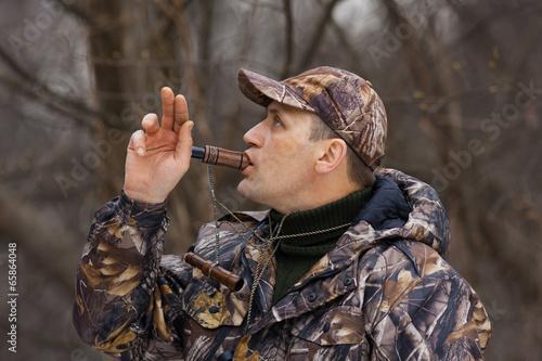 Foto op Canvas Jacht duck hunter